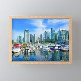 Vancouver Marina Framed Mini Art Print