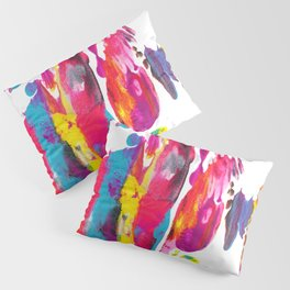 Abstract Paint Smear Party Pillow Sham