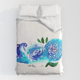 Three Blue Christchurch Roses Comforters