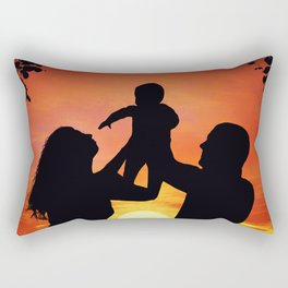 happy family Rectangular Pillow