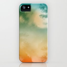 """Orange & Blue Heaven"" iPhone Case"