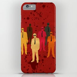 Six Angry Dogs iPhone Case