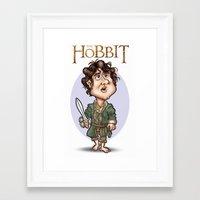 the hobbit Framed Art Prints featuring The Hobbit by Roberto Núñez