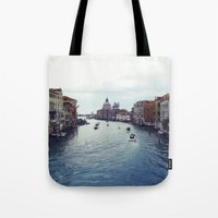 venice Tote Bags featuring Venice by Rhianna Power