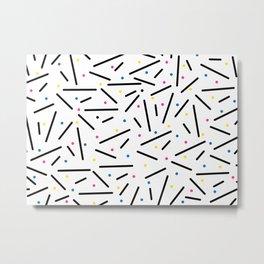 Contemporary Art Canvas Metal Print
