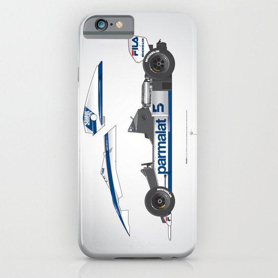 Outline Series N.º6, Nelson Piquet, Brabham BT-52 BMW, 1983 iPhone & iPod Case