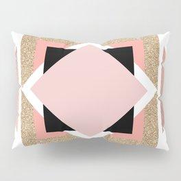 Carré rose Pillow Sham