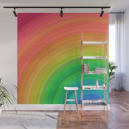 Bright Rainbow | Abstract gradient pattern Wall Mural