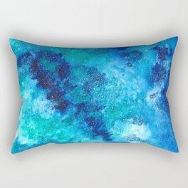 blue galaxy Rectangular Pillow