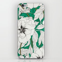 green peonies iPhone Skin