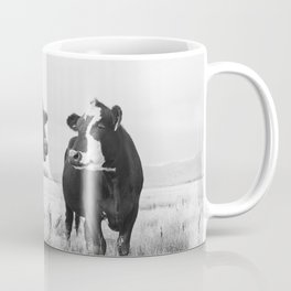 Cattle Photograph in Black and White Coffee Mug