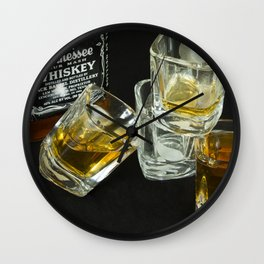 A Little Nip - Whiskey Wall Clock