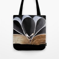 bible Tote Bags featuring Bible and Rings by EJPandMe