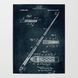 1917 - Billiard cue Poster