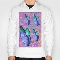 butterflies Hoodies featuring butterflies by Shea33