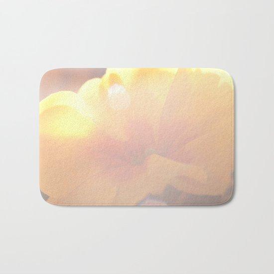 Spring Kiss - Yellow Primrose in the sunlight #decor #art #society6 Bath Mat