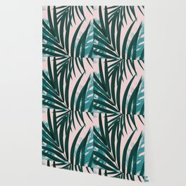 Palm & Monstera Leaves Mix #1 #foliage #decor #art #society6 Wallpaper