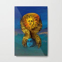 The creative fire that unite the polarities Metal Print