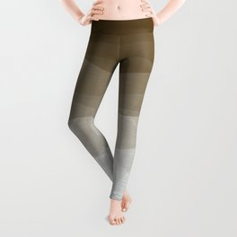 Imperial Smoky Quartz - Minimal Geometric Triangles Leggings
