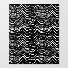 Dark Glitch Abstract Pattern Canvas Print