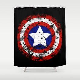 Captain's Shield Shower Curtain
