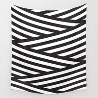 stripes Wall Tapestries featuring Stripes by Dizzy Moments