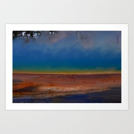 The Wonder of the Great Prismatic Spring Art Print
