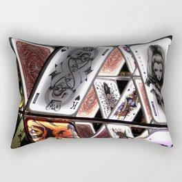 Game of Cards Rectangular Pillow