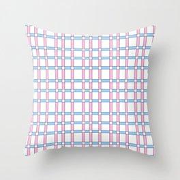 symetric tartan and gingham 27 -vichy, gingham,strip,square,geometric, sober,tartan Throw Pillow