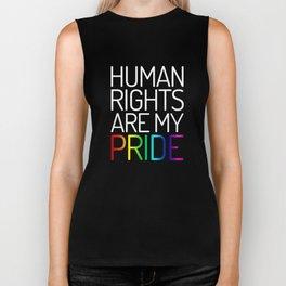Human Rights are My Pride (white) Biker Tank