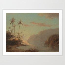 A Creek in St. Thomas (Virgin Islands) Camille Pissarro, 1856 Art Print