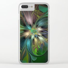 Colorful Abstract Fractal Art Clear iPhone Case