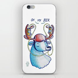 OH MY BEER! iPhone Skin