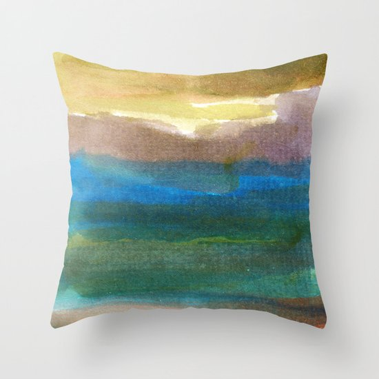 watercolor abstract painting_4 Throw Pillow