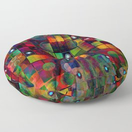 Urban Perceptions, Abstract Shapes Floor Pillow