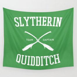 Hogwarts Quidditch Team: Slytherin Wall Tapestry