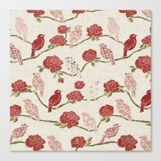 Nightingale and Rose Canvas Print