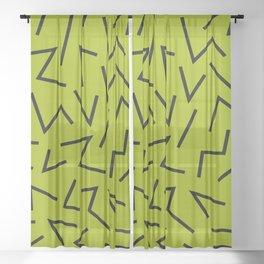 abstract zick zack Sheer Curtain