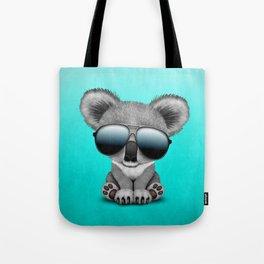 Cute Baby Koala Bear Wearing Sunglasses Tote Bag