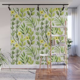 Spring Green (yellow flowers) Wall Mural