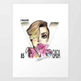 V magazine pinkGa Art Print