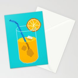 Orange Drink Stationery Cards