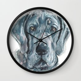 Baden // Blue Great Dane Wall Clock