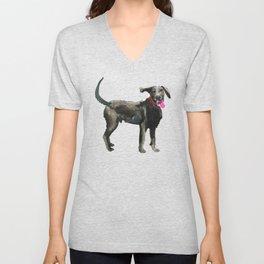 watercolor dog vol 16 silver labrador Unisex V-Neck