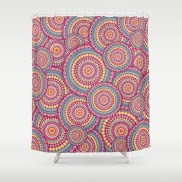 Pink Mandala Hippie Pattern Shower Curtain