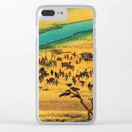 Fording the River at Shimada Japan Clear iPhone Case