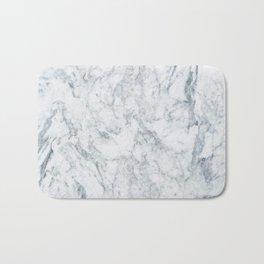 Vintage elegant navy blue white stylish marble Bath Mat
