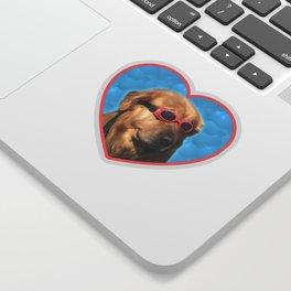 Swimmer Dog Sticker