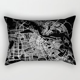 Amsterdam map Rectangular Pillow