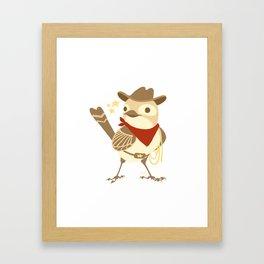 Wild Sparrow Framed Art Print